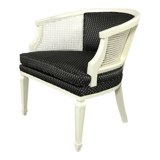 Black & White Cane Side Chair