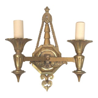 Art Deco Egyptian Revival Double Wall Sconce