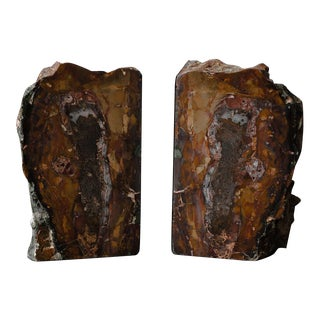 Red Jasper Book Ends - A Pair
