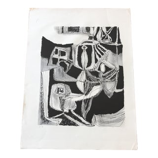 Original Abstract Jerry Opper Print