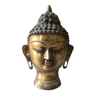 Vintage Brass Buddha Head