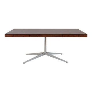 Florence Knoll Partner's Desk with Rosewood Top