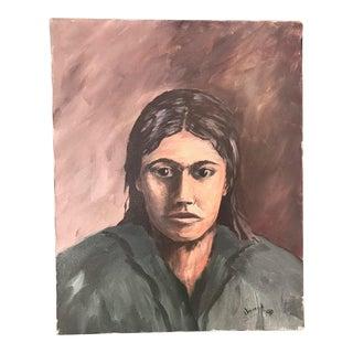 Native American Portrait Painting