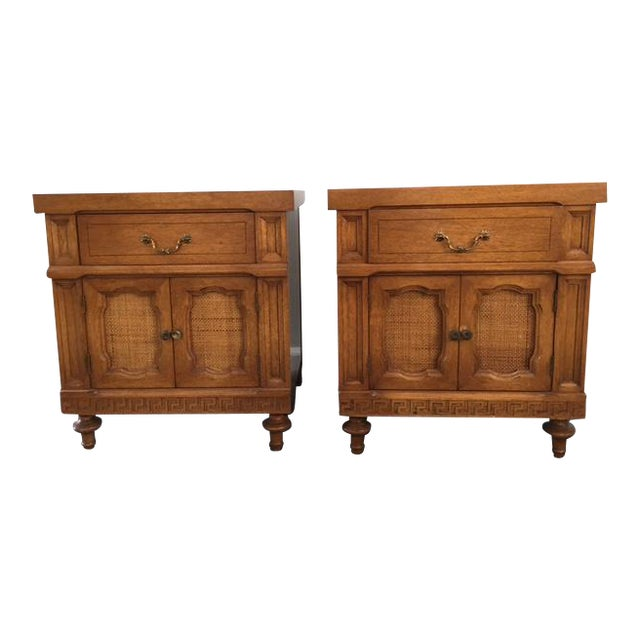 Image of Daniel Jones Vintage Bedroom Nightstands - A Pair