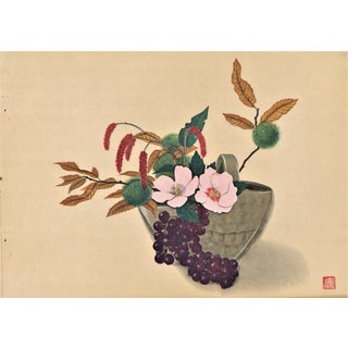 Japanese Botanical Arrangement Print