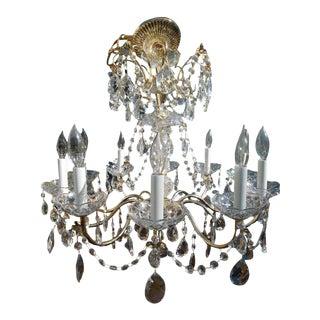 Vintage 10-Light French Crystal Chandelier
