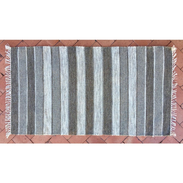 Handwoven Striped Ethnic Wool Rug - 2′3″ × 3′9″ - Image 2 of 5