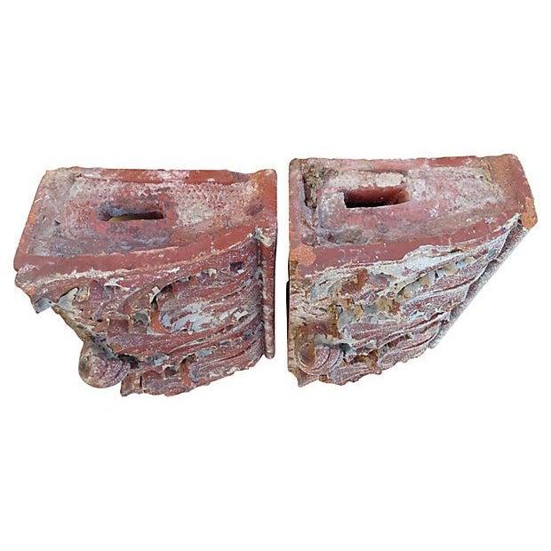 Antique Terra Cotta Corbels - A Pair - Image 5 of 7