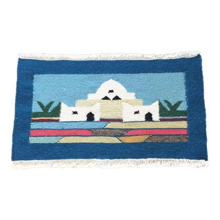 Vintage Woven Building Tapestry