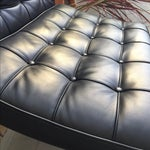 Image of Black Barcelona Style Chairs - A Pair