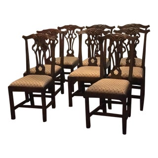 Hickory Chair Carolina Chippendale Dining Chairs - Set of 8