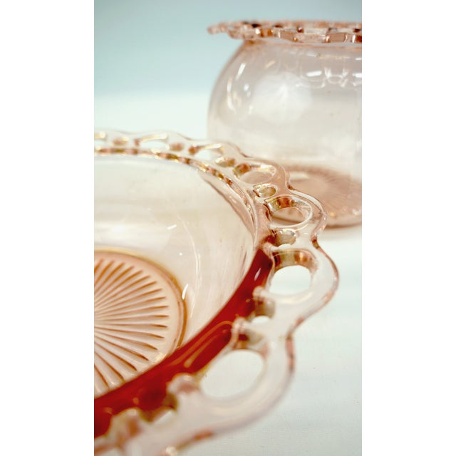 Pink Glass Old Colony Bowls - a Pair - Image 4 of 4