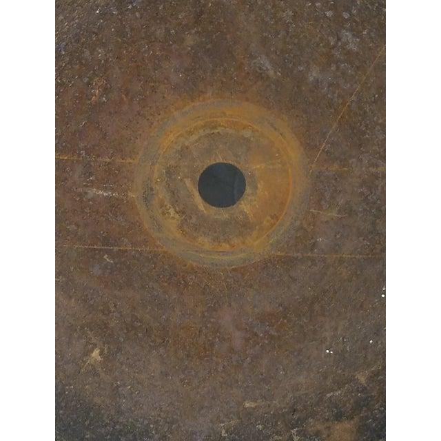 Antique Handhewn Iron Circular Saw Blade - Image 3 of 4