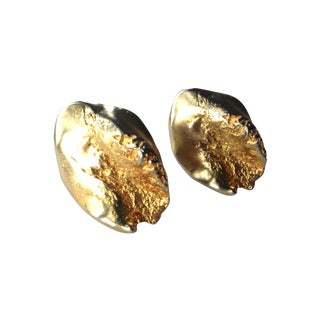 Kenneth Jay Lane Gold Tone Clips Earrings