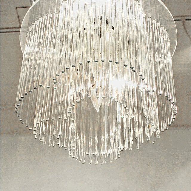 Sciolari Style Clover Glass Chandelier - Image 3 of 4