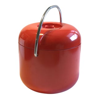 Modern Red Plastic Ice Bucket