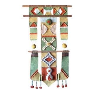 Mid Century Bohemian Woven Hanging Art Tapestry