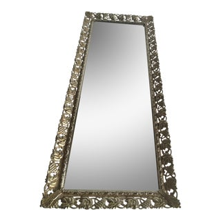 Vintage Gold & Silver Metal Mirror Tray