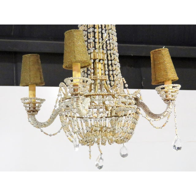Petite French Empire Style Beaded Chandelier - Image 6 of 6