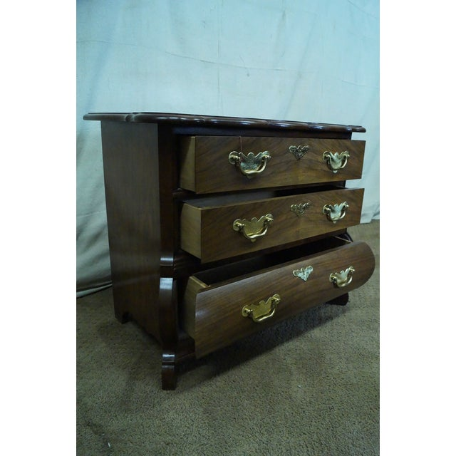 Image of Baker Furniture Burl Wood & Walnut Bombe Chest