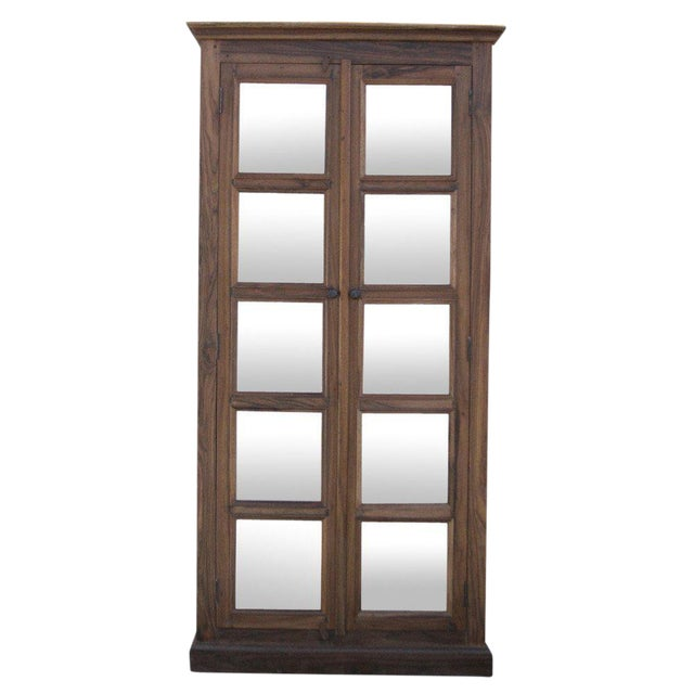British Colonial Mirror Paneled Cabinet - Image 1 of 8