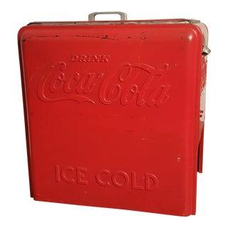 Vintage Coca Cola Ice Chest, Circa 1930's