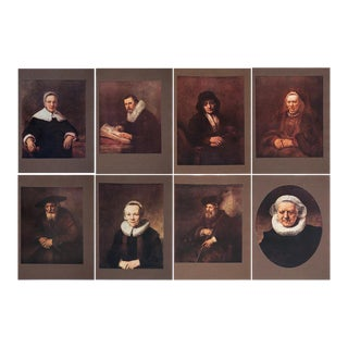 Antique M. Menpes Rembrandt Lithographs - Set of 8