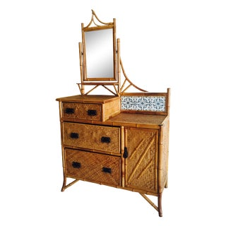 Late Victorian Bamboo Chest-of-Drawers