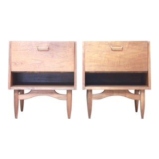 Mid-Century Walnut End Tables - Pair