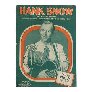 1951 Hank Snow Music Folio