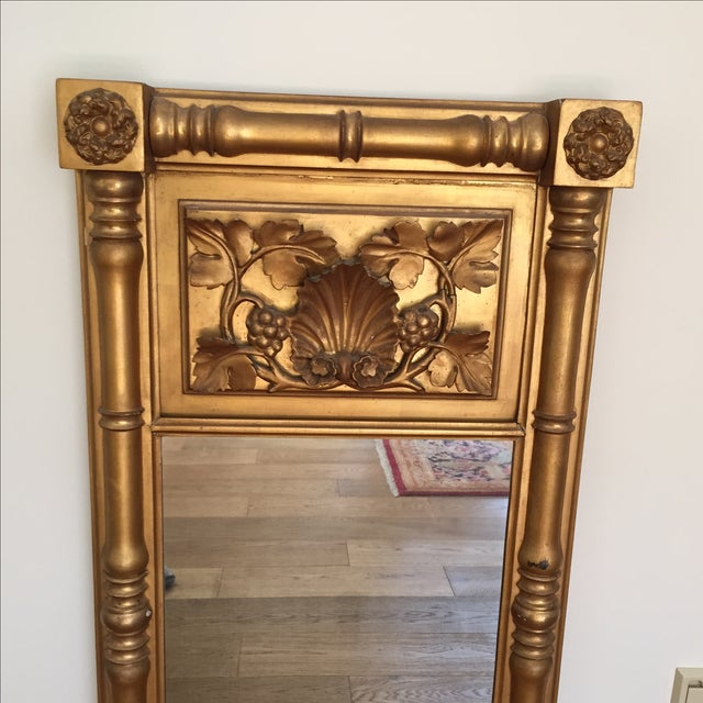 Empire Style Gilt Trumeau Mirror - Image 4 of 4