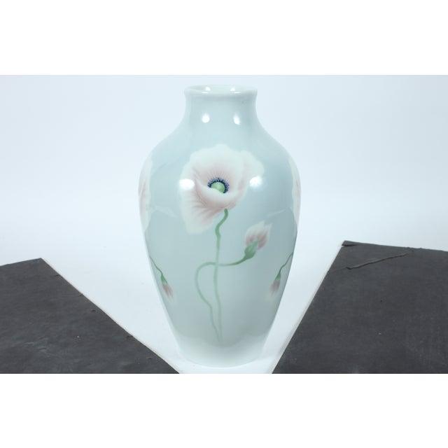 Decorative Porcelain Poppy Vase - Image 2 of 3