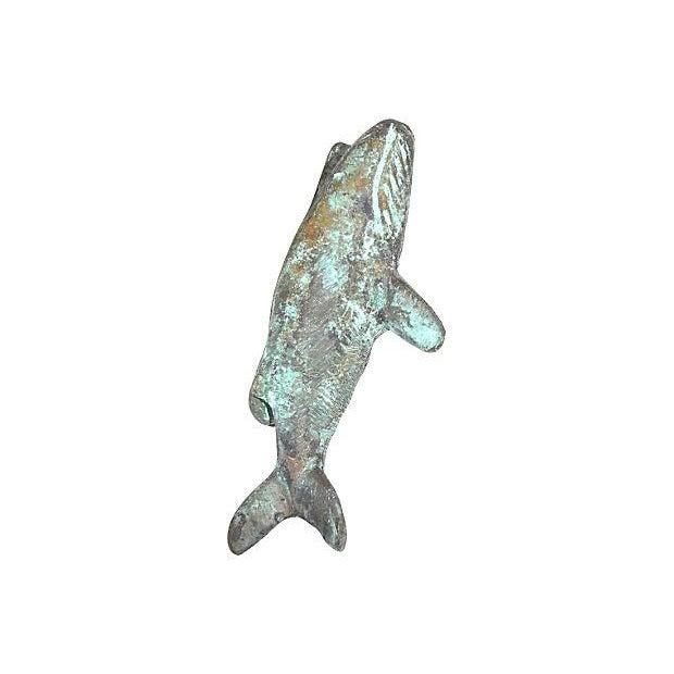 Large bronze whale vintage door knocker chairish - Whale door knocker ...