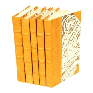 Parchment Collection Mustard Yellow Books - Set of 5