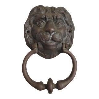 Hollywood Regency Lion Brass Door Knocker