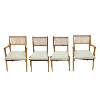 Mid-Century Spindle Back Dining Chairs - Set of 4