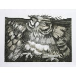 """Image of Victor Delfin, """"Old Owl,"""" Etching"""