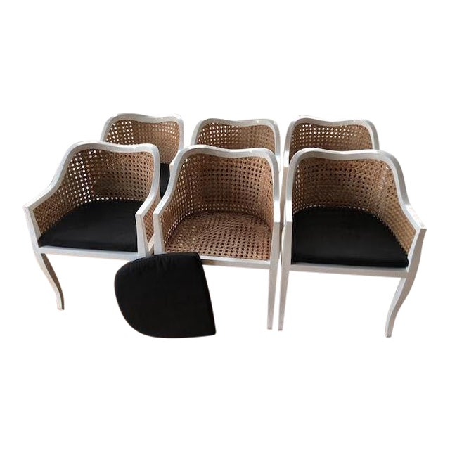 CB2 Tayabas Cane Side Chairs - Set of 6 - Image 1 of 5