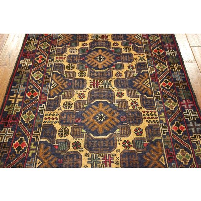 """Tribal Baluch Wool Runner Rug - 2'9"""" x 10' - Image 6 of 9"""
