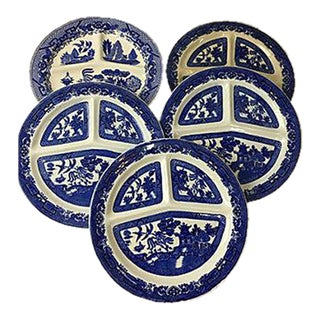 English Flow Chinoiserie Plates - Set of 5
