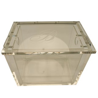 Lucite and Chrome Ice Bucket