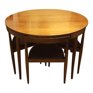 Paul McCobb Dining Table With Four 3-Legged Chairs