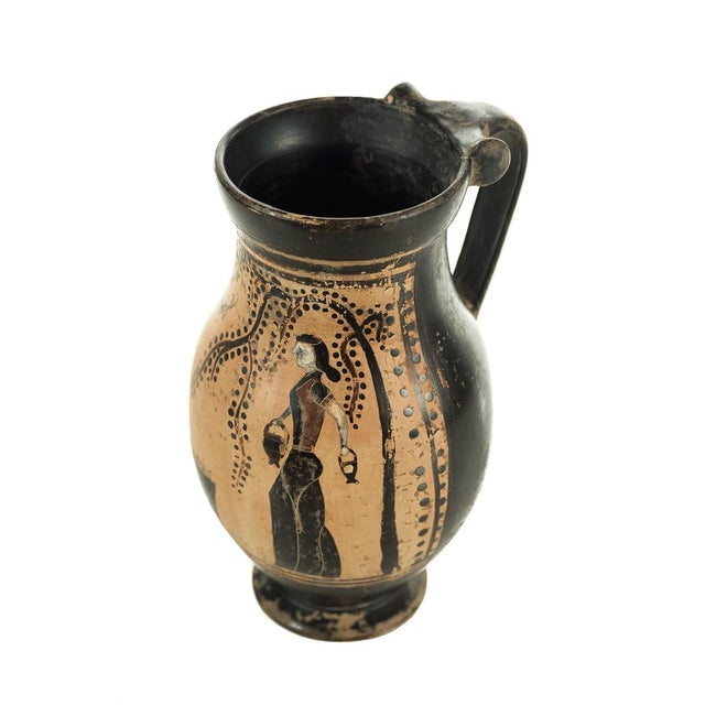 Image of Ancient Greece Pottery Vase with Black Figure