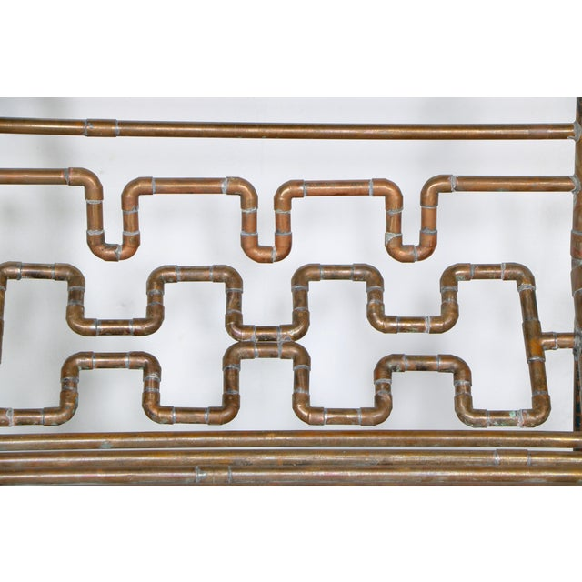 Modern Copper Pipe Bench - Image 10 of 11