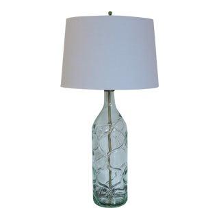 Modernist Light Green Blown Glass Lamp