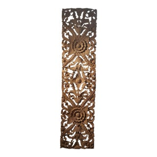 Thai Vertical Hand Carved Panel