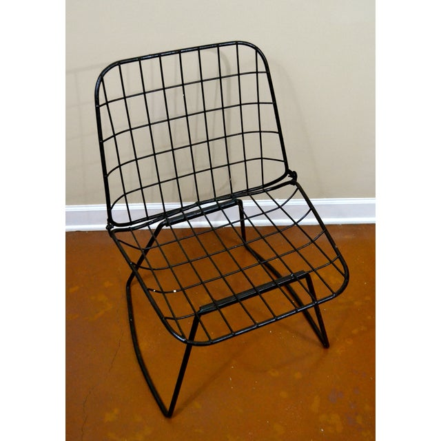 Vintage Danish Modern Wire Side Chair - Image 3 of 10