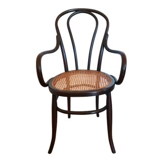 Vintage Thonet Bentwood and Cane Seat Chair