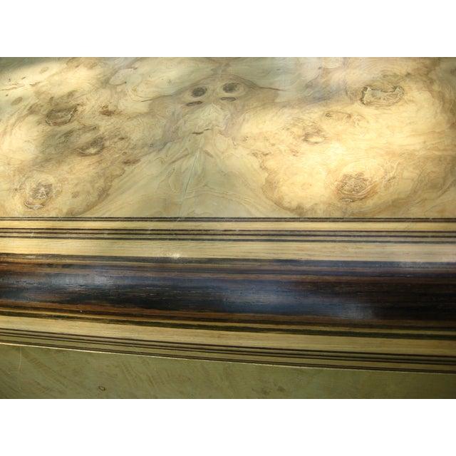 Henredon Olive Burl and Ebony Side Table/Stool - Image 8 of 10