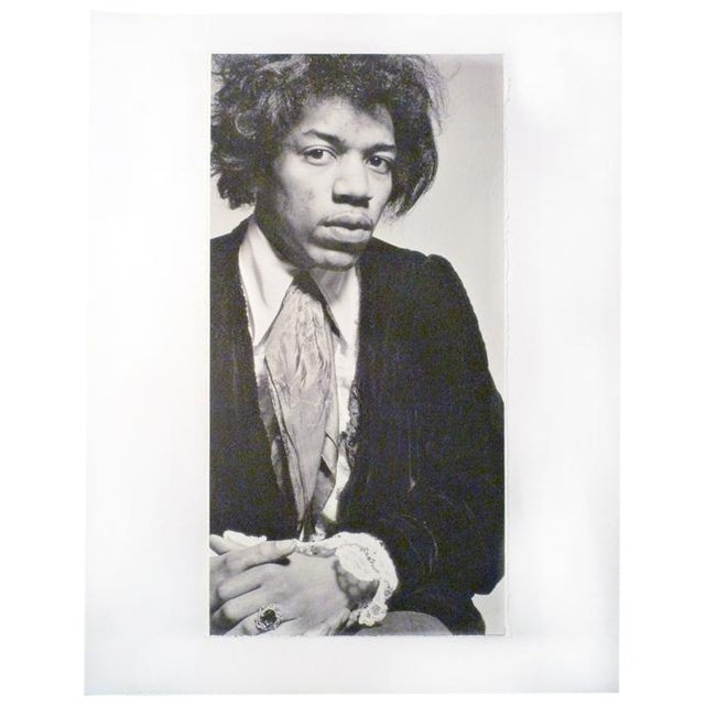 Vintage Jimi Hendrix Portrait Photograph - Image 1 of 3